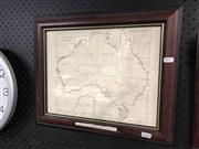 Sale 8819 - Lot 2541 - Print of an Early Map of Australia