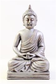 Sale 8997A - Lot 645 - Composite figure of buddha seated on rectangular base (H40cm)