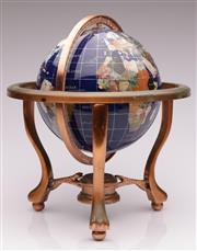 Sale 9052 - Lot 394 - Gemstone Globe on Stand (H37 x DIA 34cm)