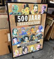 Sale 9087 - Lot 2063 - A Poster of Tobacco Culture Exhibition at Tropenmuseum, Amsterdam, frame: 122 x 86 cm,