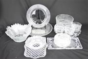 Sale 8396 - Lot 4 - Arcoroc Bowls with Other Crystal Wares incl. Platters