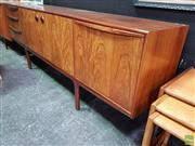 Sale 8607 - Lot 1004 - Rosewood McIntosh Sideboard (H: 75 W: 213 D: 47cm)