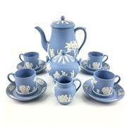 Sale 8545N - Lot 48 - Wedgwood Jasperware Coffee Service for Four (11 pieces)