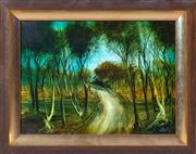Sale 8650A - Lot 4 - Kevin Charles Pro Hart - The Winding Road 28 x 39cm