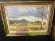 Sale 8655 - Lot 2040 - John Hansen - Near Dungog, oil on board, 50 x 70cm, signed lower right -