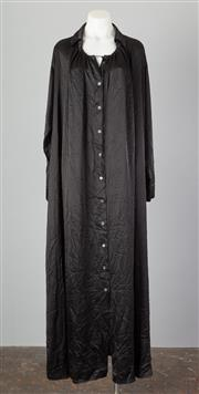 Sale 8661F - Lot 31 - An Ann Demeulemeester black silk shirtdress, size 38.