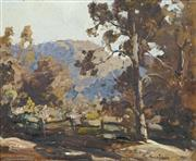 Sale 8704 - Lot 582 - Robert Johnson (1890 - 1964) - Untitled (Landscape) 18.5 x 22cm