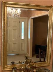 Sale 8510A - Lot 1 - A gilt framed bevelled edge mirror, 108 x 84cm