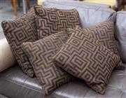 Sale 8746 - Lot 1073 - A set of five down filled geometric cushions