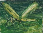 Sale 8821A - Lot 5017 - Kevin Charles (Pro) Hart (1928 - 2006) - Dragonfly 13 x 10cm