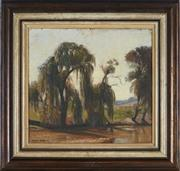 Sale 8870A - Lot 583 - Albert Sherman (1882 - 1971) - Willows Trees 35.5 x 38 cm