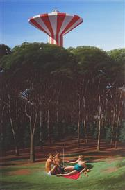 Sale 8896A - Lot 5033 - Jeffrey Smart (1921 - 2013) - The Picnic 1980 89 x 72 cm