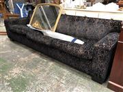 Sale 8893 - Lot 1014 - Dark Blue Upholstered Four Seater Sofa