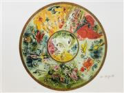 Sale 9080A - Lot 5049 - Marc Chagall (1887 - 1985) - Paris Opera Ceiling dia.60cm (sheet size: 64 x 89 cm)