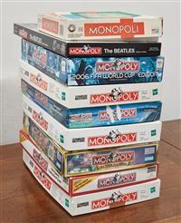 Sale 9090H - Lot 76 - A collection of various monopoly games together with a checkers set
