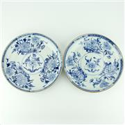 Sale 8332 - Lot 57 - Kangxi Fine Blue & White Export Ware Pair of Plates