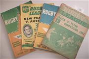 Sale 8404S - Lot 34 - 1963 Rugby League News Programmes - Vol. 44, Nos. 3 (Craven Cup) 1, 2, 3, 4, 6, 7, 8, 9, 10, 11 (Australia v New Zealand), 15 (Austr...