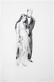 Sale 8427 - Lot 523 - Norman Lindsay (1879 - 1969) - Untitled (c1934) 18 x 6cm (sheet size: 26.5 x 18.5cm)