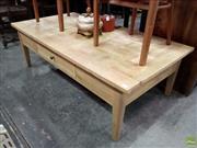 Sale 8601 - Lot 1417 - American Oak Chess Pattern Coffee Table