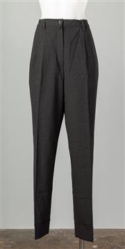 Sale 8661F - Lot 57 - A pair of Jil Sander black wool blend pleated trousers, size 40