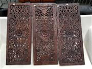 Sale 8680 - Lot 1030 - Carved Panels x 3