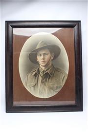 Sale 8733 - Lot 45 - Large Portrait of AIF Soldier