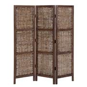 Sale 8957T - Lot 63 - Bifold Screen featuring fruitwood frame and rattan in honey brown W150 X D3 X H170