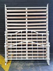 Sale 8959 - Lot 1046 - Antique Style Double Bed Frame (H:120 x W:152cm)