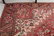 Sale 9023H - Lot 74 - A large Persian Heriz woollen carpet in red tones with geometric pattern 316 x 415cm Provenance LM 30/Nov05