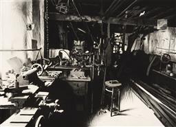 Sale 9252AD - Lot 5086 - HERTHA KLUGE POTT (1934 - ) - Industrial Work Shop IV 76 x 101.5 cm