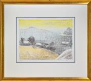 Sale 8325 - Lot 577 - Lloyd Rees (1895 - 1988) - A Day on the Derwent, 1984 39 x 52.5cm