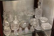 Sale 8351 - Lot 94 - Heavy Gauge Cut Crystal Decanter incl Other Crystal Incl Bowls