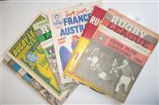 Sale 8404S - Lot 35 - 1964 Rugby League News Programmes - Vol. 45, Nos. 5 (Craven Cup) 9, 11,13, 14, 17, 18 (Australia v France), 22, 24 (Australia v Fran...