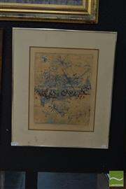 Sale 8506 - Lot 2027 - Robert Henderson (Bob) Grieve (1924 - 2006) - China Wall, 11-25-1978, colour etching, 37 x 29cm, signed lower left