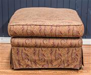 Sale 8516A - Lot 94 - A vintage ottoman recovered in beautiful classic paisley fabric. 42cm high x 65cm wide x 65cm deep