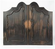 Sale 8651A - Lot 35 - A set of vintage Continental tabernacle alcove doors, completely refinished, H 134 x W 153cm (combined)