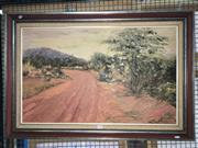 Sale 8655 - Lot 2041 - Anne van der Laarse - Road to Ayres Rock, oil on board, signed lower right -