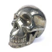 Sale 8758 - Lot 25 - Pyrite Carved Skull, single crystal