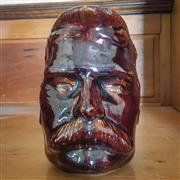 Sale 8878T - Lot 33 - Bendigo Pottery Lord Kitchener Face Jug in Rockingham Glaze Small Chip to Rim & Wear to NoseHeight - 14.5cm