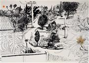 Sale 9013 - Lot 532 - Brett Whiteley (1939 - 1992) - Lindfield Gardens, 1978 82 x 112.5 cm (frame: 110 x 144 x 6 cm)