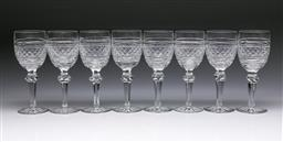 Sale 9093 - Lot 23 - Set of Eight Waterford Crystal Castletown Goblets (H18cm)