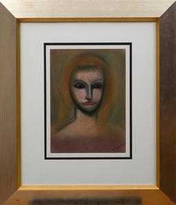 Sale 9150J - Lot 96 - ROBERT DICKERSON (1924 - 2015) Figure pastel 38 x 27 cm signed lower right