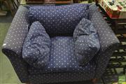 Sale 8341 - Lot 1040 - Blue Upholstered Mokum Armchair