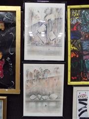 Sale 8427 - Lot 504 - Jamie Boyd (1948 - ) (2 works) - Shoalhaven Scenes 76 x 57cm; 76 x 55cm