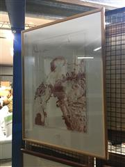 Sale 8702 - Lot 2056 - Artist Unknown - Tree Study, Conte on paper, 80 x 61cm (frame size), unsigned