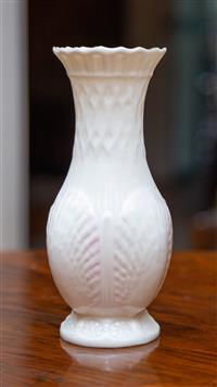Sale 8735 - Lot 27 - A Belleek vase with shell design and brown stamp to base H x 20cm