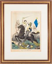 Sale 8887 - Lot 89 - A Victorian hand coloured print, Fight for the Standard,
