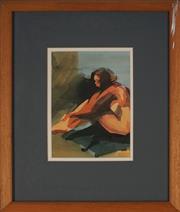 Sale 8906 - Lot 2002 - Liz Neate - Nude watercolour, 18.5 x 13.5 cm, unsigned -