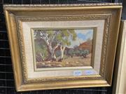 Sale 9004 - Lot 2039 - R Boettaer, landscape- Northern Flinders, oil on board, frame: 24 x 29 cm, signed lower left