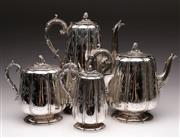 Sale 9078 - Lot 118 - A Good Silver Plated Tea/Coffee service (Height Of Coffee Pot 32cm)